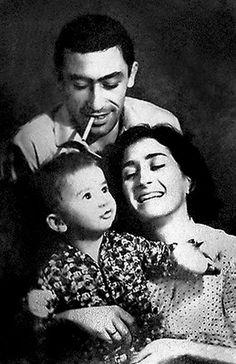 Вахтанг Кикабидзе с женой Ириной и сыном Костей