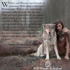 Wolves and Women have much in common. Both share a wild spirit. Women and Wolves… Wolf Qoutes, Lone Wolf Quotes, Wolf Spirit Animal, Animal Spirit Guides, Spirit Animal Tattoo, Wild Women Quotes, Wolves And Women, Timberwolf, Native American Quotes