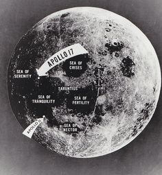 A photo, taken by the Apollo 11 crew on their way home from the moon, showed both the first and last lunar landing sites. The first manned lunar landing, Apollo 11 on July 20, 1969, occurred at the southwestern part of the Sea of Tranquility. Apollo 17, the final Apollo mission, touched down in the Taurus-Littrow area, a combination mountainous highland and lowlands valley region.