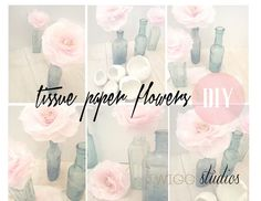 ..Twigg studios: naturally dyed tissue paper flowers tutorial