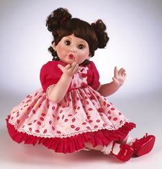 Blowing Kisses Porcelain Toddler Doll by Marie Osmond