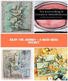 Image Kunst mit Gemischten Medi Enjoy the Journey - A Mixed Media Project. Volleyball, Mixed Media, Journey, Creative, Projects, Image, Art, Kunst, Art Background