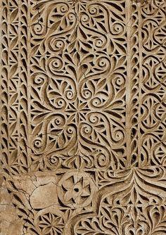 Ottoman stuc decoration - Saudi Arabia Former Idriss Palace, near Jizan. This is lovely. Islamic Architecture, Art And Architecture, Architecture Details, Textures Patterns, Color Patterns, Inspiration Art, Art Plastique, Islamic Art, Wood Carving