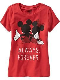 Girls Disney© Mickey and Minnie Mouse Tees