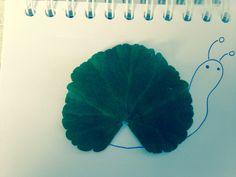 Leaf art geranium snail x