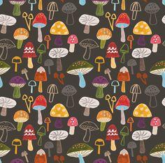 Toadstool pattern by Lisa Barlow (Milk & Honey)