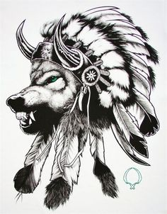 Wolf In An Indian Headdress Tattoo Quotmake It Simple But with regard to The Awesome and Lovely  Indian Tattoo intended for Tattoo Art Lobo Tribal, Tape Art, Head Tattoos, Wolf Tattoos, Body Art Tattoos, Girl Tattoos, Indian Wolf, Indian Headdress Tattoo, Wolf Headdress