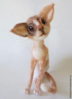Cat Kitty Siam LittleOwlsHut Finished toy for sale Made using Crochet Pattern of Svetlana Pertseva From www.LittleOwlsHut.com Handmade. #LittleOwlsHut, #Pertseva, #Cat, #CrochetPattern, #Amigurumi, #Kitty