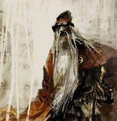 "samimakkonen: "" Study of Väinämöinen for the Anniversary of Kalevala. Russian Mythology, Minecraft, Baby Witch, Illustration Art, Book Illustrations, Finland, Surrealism, Mists, Scandinavian"