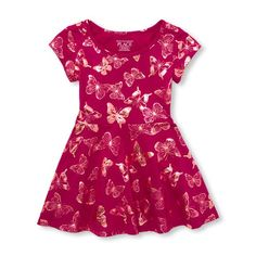 Dresses Girls' Clothing (newborn-5t) The Childrens Place Skater Dress Girls Size 24 Month Faux Fur Animal Print Various Styles