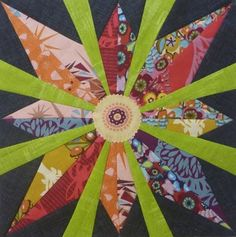 """""""Desperate Housewife's Quilt block 21 The Star"""" by Quiltjane (Nov Quilting Tutorials, Quilting Projects, Quilting Designs, Quilting Ideas, Crazy Quilting, Sewing Projects, Star Quilt Blocks, Star Quilts, Appliqué Quilts"""