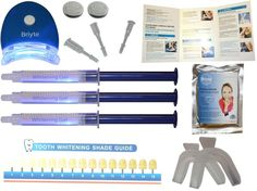 Product: Briyte Teeth Whitening Kit Made by: Briyte Costs: £20.00 (On sale at the moment on Amazon.co.uk) For: effective for more heavily stained teeth Instructions: In French so for me not so easy to read Score: 8 out of 10