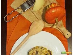 Risotto alla Zucca con Radicchio e Caciocavallo: mamma che freddo!  #ricette #food #recipes
