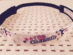 No-slip headband gymnastics I love gymnastics by BBBandz on Etsy