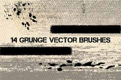 Grunge vector brushes by@Graphicsauthor