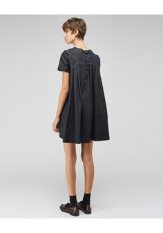 Charles Anastase / Pleated Denim Mini Dress | La Garçonne