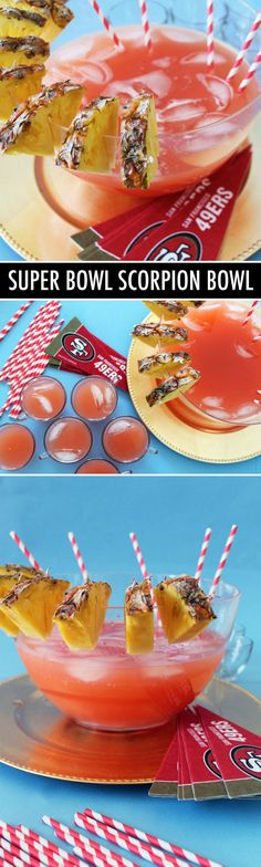 Party punch alert! Make a Scorpion Bowl for the Super Bowl :)