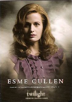 In 1911, Esme broke her leg falling out of a tree she'd climbed.  Her family lived on a farm on the outskirts of Columbus.  The local doctor was away, and it was after dark by the time they got her to the small hospital in Columbus.  A Dr. Cullen treated her.  It was his last month in town.  She never got over the experience.