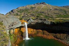 Waterfall, Lava, Outdoor, Mountain Range, Volcanoes, Waterfalls, Scenery, Single Wide, Antigua