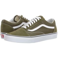 fae123376a Vans Old Skooltm (Winter Moss True White) Skate Shoes ( 60) ❤ · Olive Green  ...