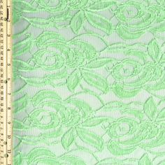 Green Mint D Eternity Floral Lace Fabric