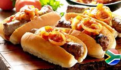 Ready to take the traditional plain and simple South African boerewors roll up a notch? Try out this gourmet boerie roll recipe. Tomato Relish, Fresh Coriander, Fresh Bread, Mom Hacks, Rolls Recipe, Bread Rolls, Blue Cheese, Caramelized Onions, Hot Dog Buns