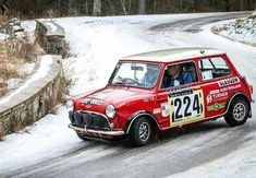 The Cooper S was very successful in competition. One of the better known race venues the Monte. Monte Carlo Rally, Car In The World, Modified Cars, Classic Mini, Mini Me, Old Skool, Competition, Racing, Instagram
