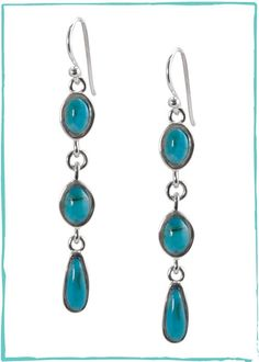 Barse Turquoise Drop Earring