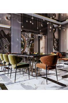 Lobby Interior, Restaurant Interior Design, Luxury Interior Design, Cafe Interior, Modern Hotel Lobby, Hotel Lobby Design, Kitchen Cabinet Interior, Interior Design Kitchen, Kitchen Cabinets