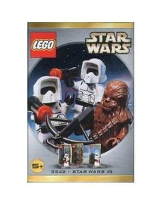 Lego Star Wars: Figure Set Chewbacca & 2 Biker Scouts (3342) by LEGO. $39.99. Provides classic building enjoyment while sparking imaginative play for endless fun. This set comes with plates with cards for their display. Great addition to any Star Wars collection. Chewbacca and two biker scouts are included. Star Wars Lego #3342 - Figure Set: Chewbacca & 2 Biker Scouts.