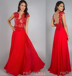 Red Chiffon Beach Wedding Dress Backless Party Prom Evening Dress E13172