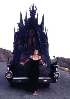 The most amazingly goth wedding transport... or the mostest?