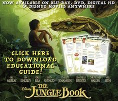 If your kids like Disney's The Jungle Book, you have to get this free educational guide based on the film. It's perfect for homeschool families.