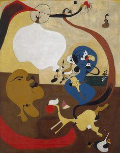 Joan Miró, Interior holandès II. Oli sobre tela, 91,8 x 73 cm. Venècia: Peggy Guggenheim Collection.