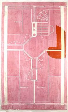 EUGENE BRODSKY: floor plan, ink on silk