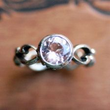 recycled sterling silver engagement rings for women | Morganite engagement ring - light pink - recycled sterling silver ...