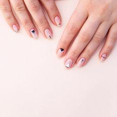 Mens Nails, Nails Now, Geometric Nail Art, Modern Nails, Nude Nails, Gorgeous Nails, Nail Inspo, Diy Nails, Beauty Nails