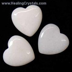 Hearts - White Aventurine Heart- White Aventurine - Healing Crystals