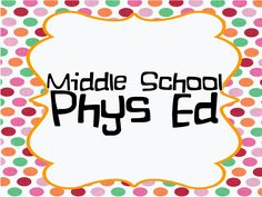 This a great pin board full of ideas for middle school P.E. For other great ideas check out http://www.2peasandadog.com