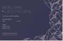 geometric Invitations & Announcements