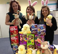 Emma Roberts, Nia Jones and Lindsey Fennell from our Holywell branch have been dropping off Easter treats to our Easter Campaign Schools!