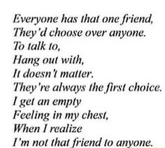 I'm not that friend to anyone
