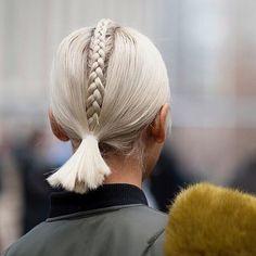 S t y l e Platinum blond x braid…