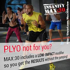 Hate jumping? After seeing many Insanity reviews, Insanity Max 30 decided to offer a modifier that gives you low impact moves with EXTREME RESULTS! http://www.tipstoloseweightblog.com/weight-loss/insanity-max-30-review #Insanity2Max30