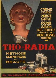 (cosmetics with radium...yikes)....have you looked at what is in your cosmetics today?