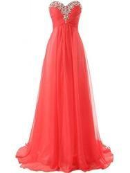 #EricDress - #EricDress Ericdress Glimmering Sweetheart Ruched Beaded Floor-Length Prom Dress - AdoreWe.com