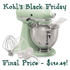 Don39;t miss the Kohl39;s Black Friday sale! You can get a KitchenAid 5q