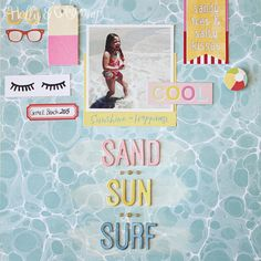 Sand Sun Surf by HollyH at @studio_calico