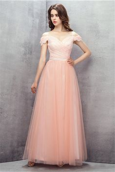 Sexy Simple A-Line Pleat Lace Evening Dresses 2017 with Straps Formal Women Long Party Prom Gowns vestidos madrinha de casamento Pink Party Dresses, Party Dresses Online, Prom Dresses 2017, Backless Prom Dresses, Tulle Prom Dress, Prom Gowns, Pageant Dresses, Quinceanera Dresses, Strapless Dress Formal