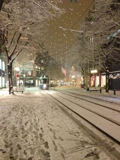 Wintry small town street at night.looks like my small town in winter. Winter Szenen, I Love Winter, Winter Magic, Winter Night, Winter Christmas, Snowy Day, Snow Scenes, Winter Beauty, Winter Pictures